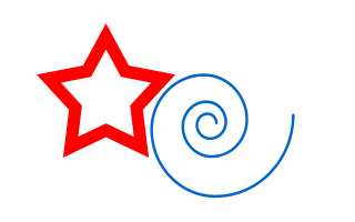 Редактор Inkscape: спирали, звезды и многоугольники