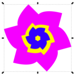 Контурные эффекты в редакторе Inkscape: вращение и деформация