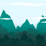 Flat пейзаж с помощью редактора  inkscape