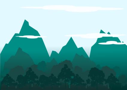 flat пейзаж