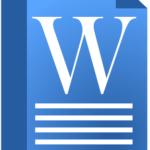Как нарисовать иконку документа Word