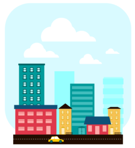 город flat inkscape