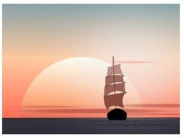 корабль в inkscape