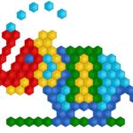 Слон из мозаики в Inkscape