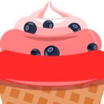 Рожок с мороженым в inkscape