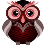 Сова из простейших фигур в inkscape