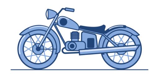 Как нарисовать в inkscape мотоцикл