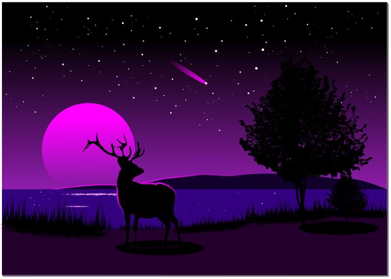 Пейзаж в inkscape
