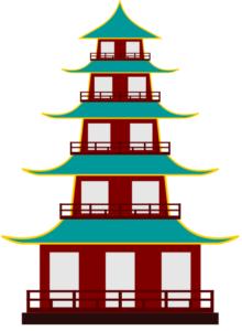 Рисунок китайской пагоды