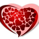 Рисунок сердца для валентинки