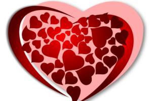 валентинка в векторе
