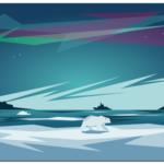 Создание векторных иллюстраций, полярный пейзаж