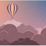 Воздушный шар, векторная иллюстрация в inkscape