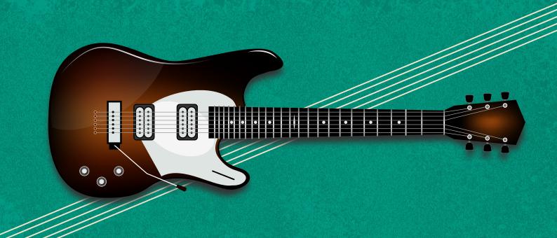 рисунок гитары inkscape