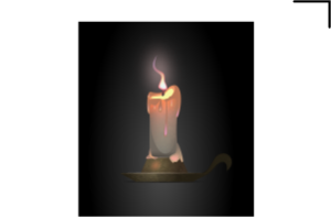 свеча пламя вектор
