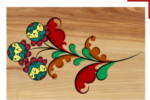 Отрисовка элементов борецкой росписи по дереву