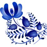 Цветок в гжельской росписи