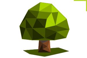 дерево low poly