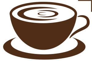 чашка кофе в векторе