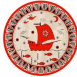 Оформляем тарелку, мезенская роспись