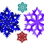 Снежинка в векторе, рисуем шаблон