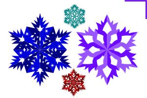 снежинка вектор, шаблон
