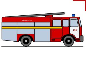 пожарная машина, вектор