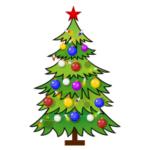 Новогодняя елка в векторе