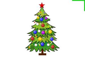 новогодняя елка, вектор