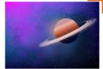 Как нарисовать планету Сатурн