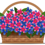 Как нарисовать корзину с цветами