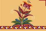 Туесок в уфтюжской росписи
